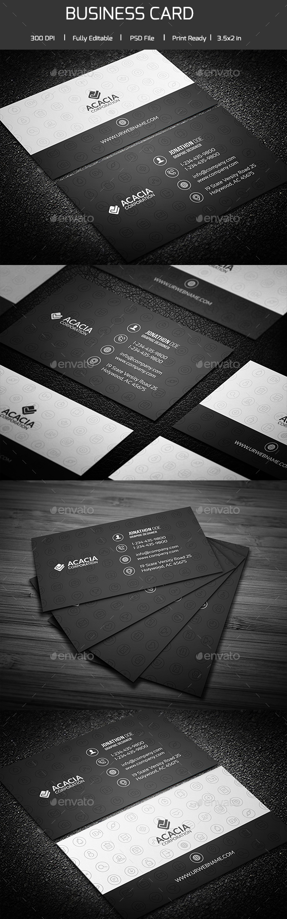 Social Icon Business Card - Corporate Business Cards