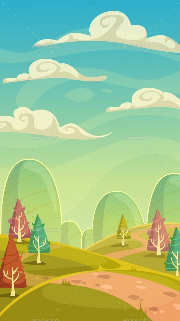 Cartoon Nature Landscape - Landscapes Nature