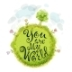 You Are My World On a Green Circle - GraphicRiver Item for Sale