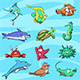 Sea Creatures Character Design Pack - GraphicRiver Item for Sale