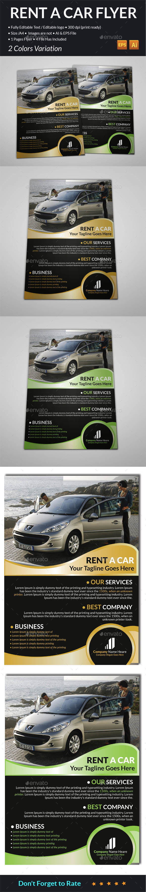 Rent A Car Flyer  - Corporate Flyers