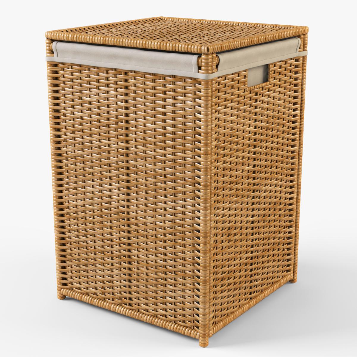 Laundry Basket Ikea Branas By Markelos 3docean
