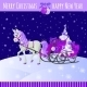 Christmas Card with Horse and Sled with Gifts