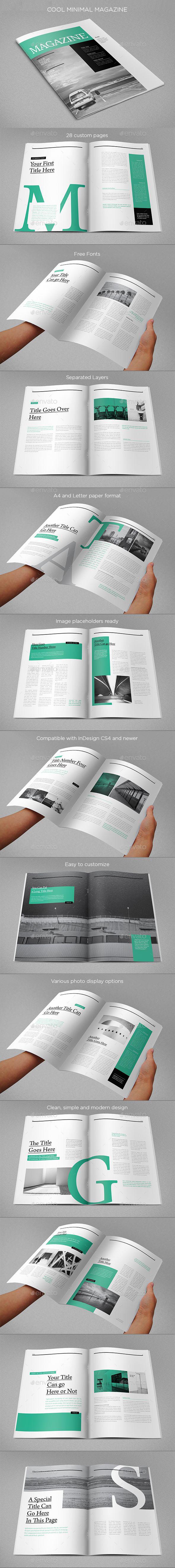 Cool Minimal Magazine - Magazines Print Templates