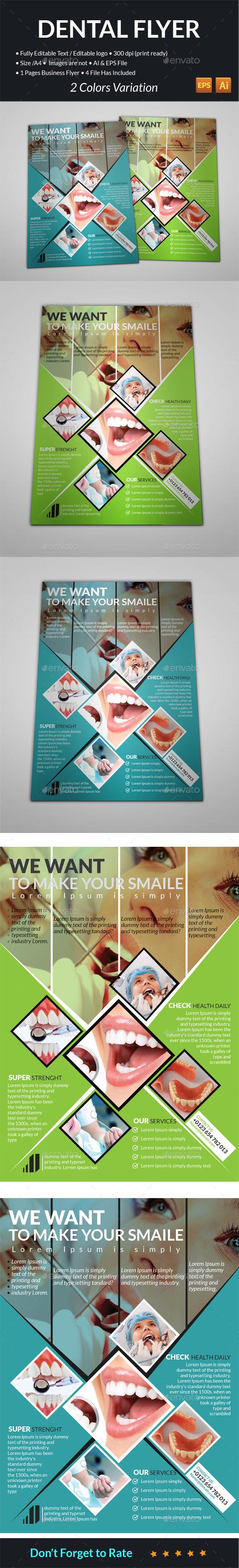 Dental Flyer Templates  - Flyers Print Templates