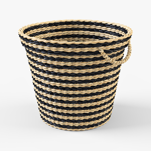Wicker Basket Ikea Maffens - 3DOcean Item for Sale