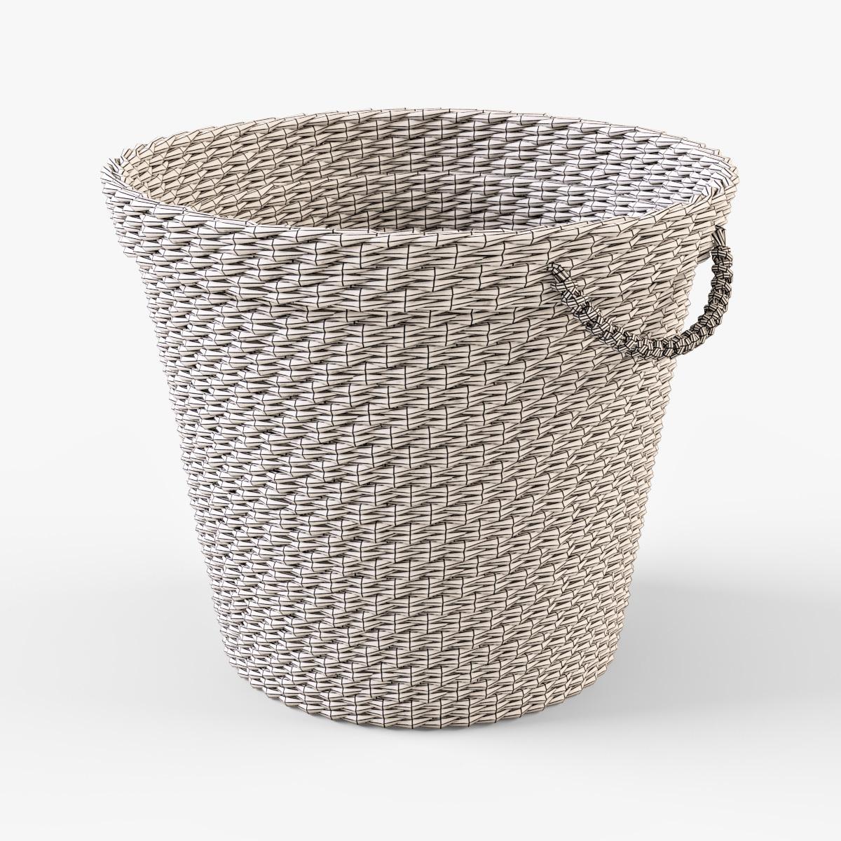 wicker basket ikea maffens by markelos 3docean. Black Bedroom Furniture Sets. Home Design Ideas