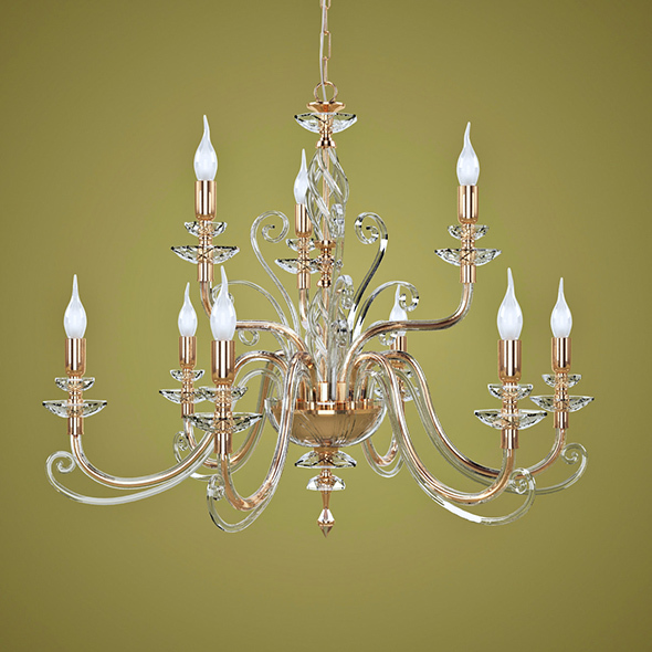 Chandelier Euroluce Lampadari Alicante L9L - 3DOcean Item for Sale