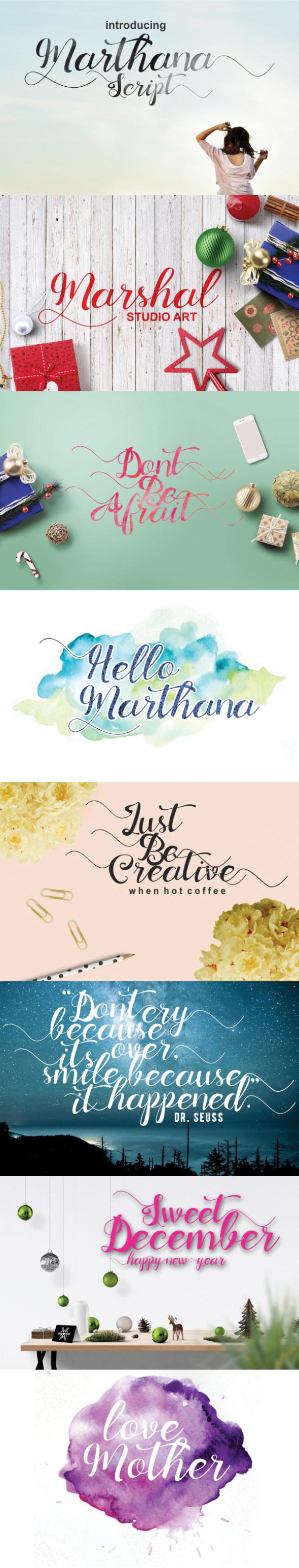 Marthana Script - Script Fonts