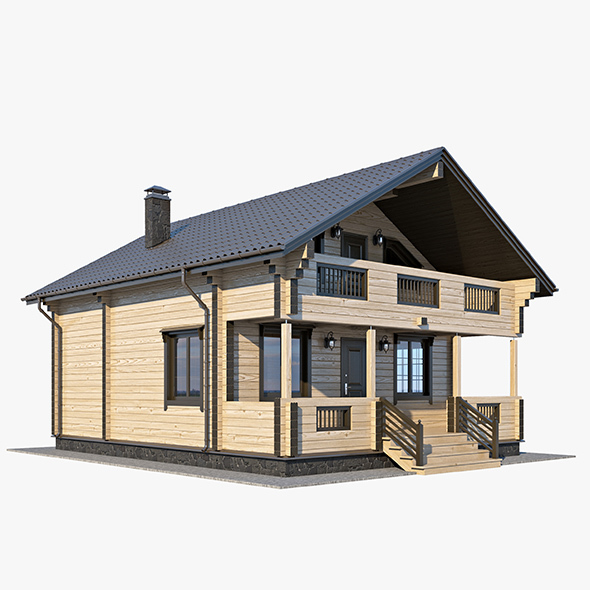 Log House 01 - 3DOcean Item for Sale