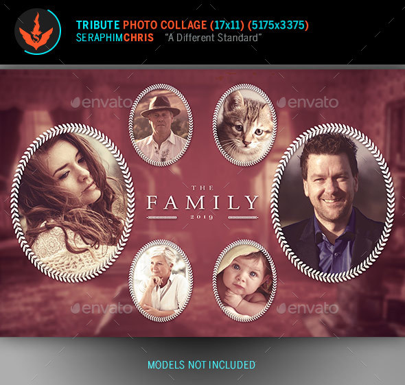 Tribute Photo Collage Template - Photo Templates Graphics
