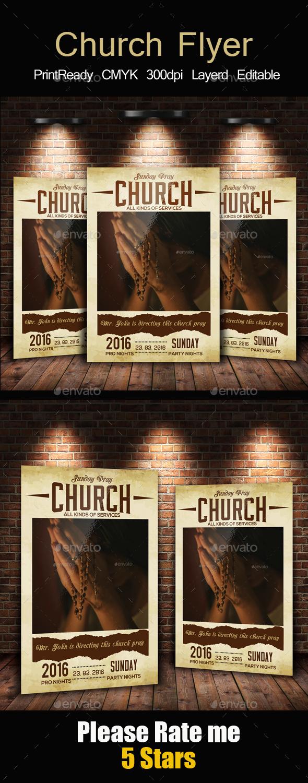 Church Pray Flyer Template - Church Flyers