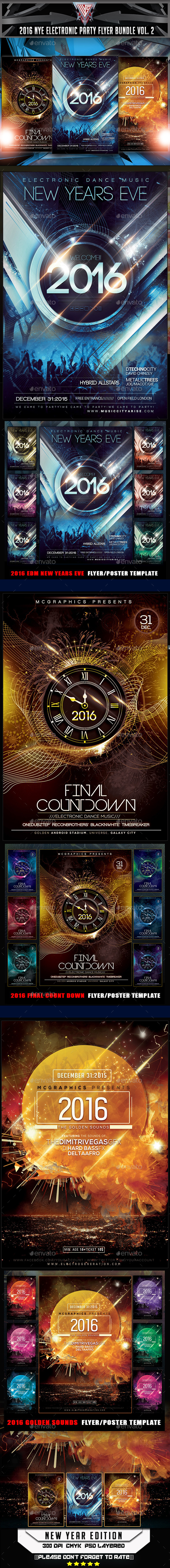 EDM New Years Eve Flyer Template - Flyers Print Templates