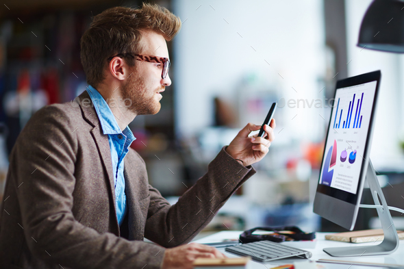 Working on computer - Stock Photo - Images