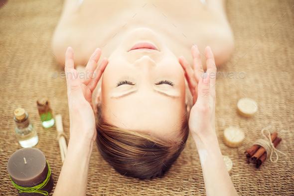 Facial massage - Stock Photo - Images