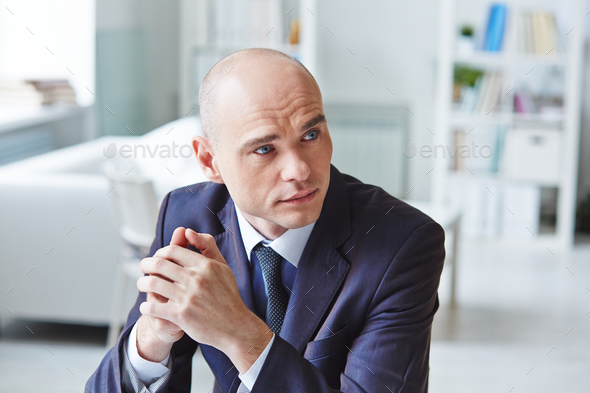 Businessman at office - Stock Photo - Images