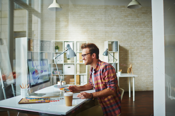 Designer at office - Stock Photo - Images