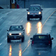 Cars Driving On Wet Road In Rain Shower - VideoHive Item for Sale