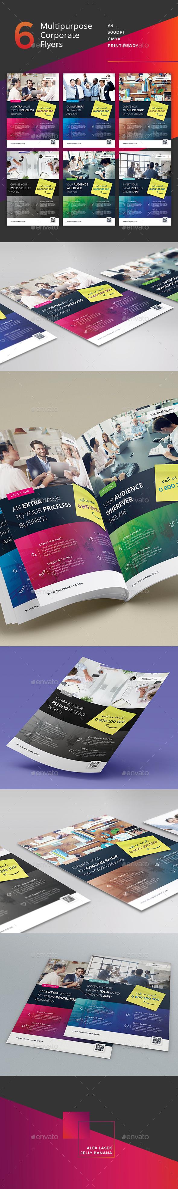 Corporate Flyer - 6 Multipurpose Business Templates vol 23 - Corporate Flyers