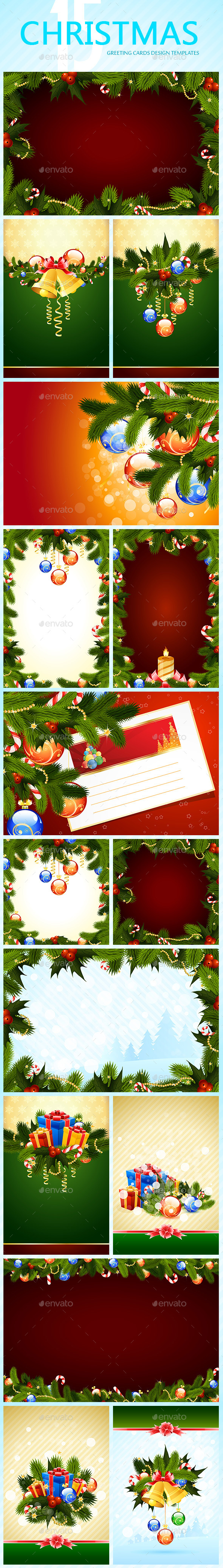 Set of Christmas Greeting Cards - Christmas Seasons/Holidays