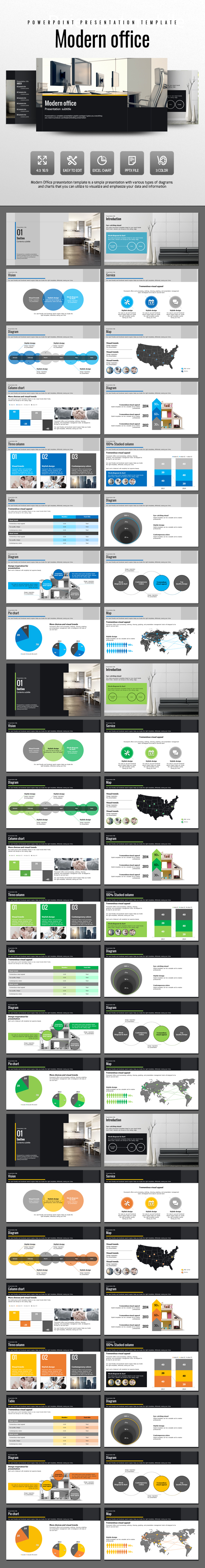 Modern Office - PowerPoint Templates Presentation Templates