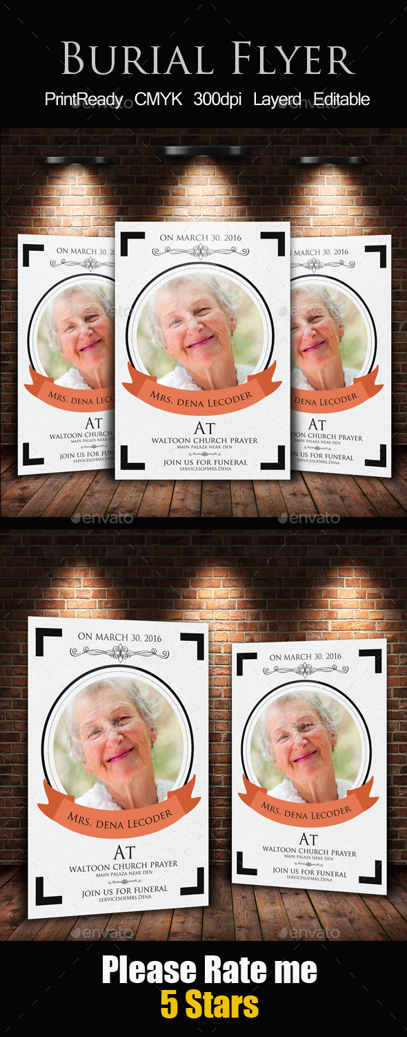 Burial Flyer Template - Church Flyers