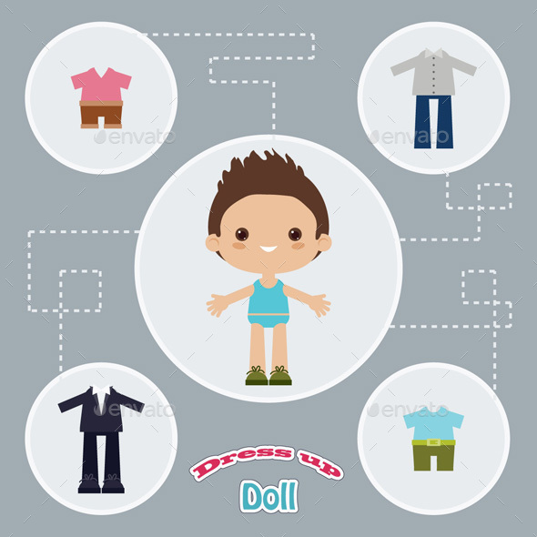 Dress Up Paper Doll - People Characters