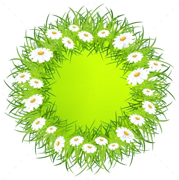 Round Flower Wreath - Miscellaneous Vectors