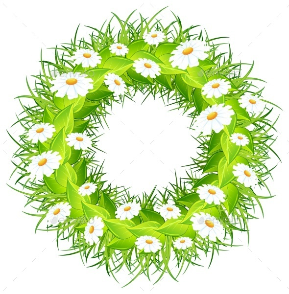 Round Flower Wreath - Miscellaneous Vectors