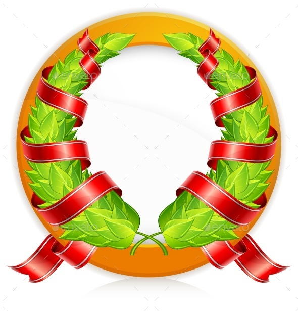Green Wreaths in Round - Miscellaneous Vectors