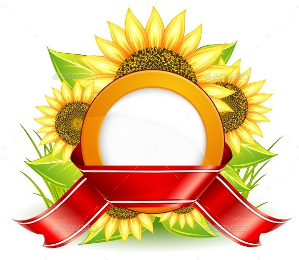 Sunflowers and Ribbon - Miscellaneous Vectors