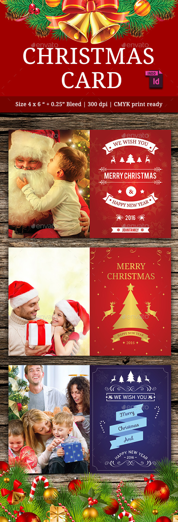 Christmas Card Vol. 3 - Cards & Invites Print Templates