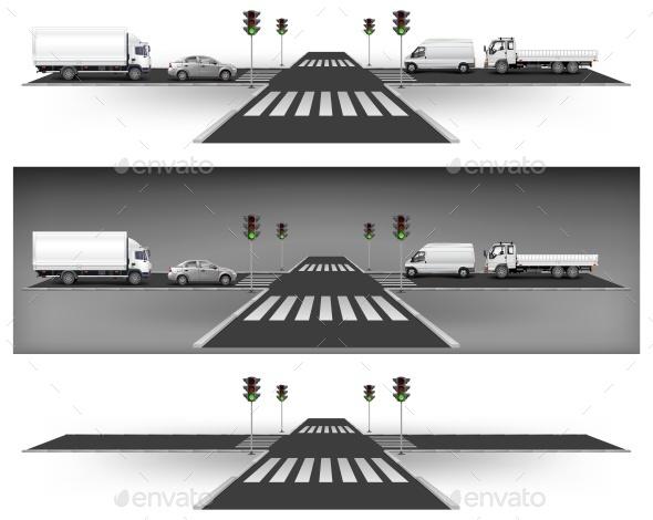 Green Traffic Lights - Miscellaneous Vectors