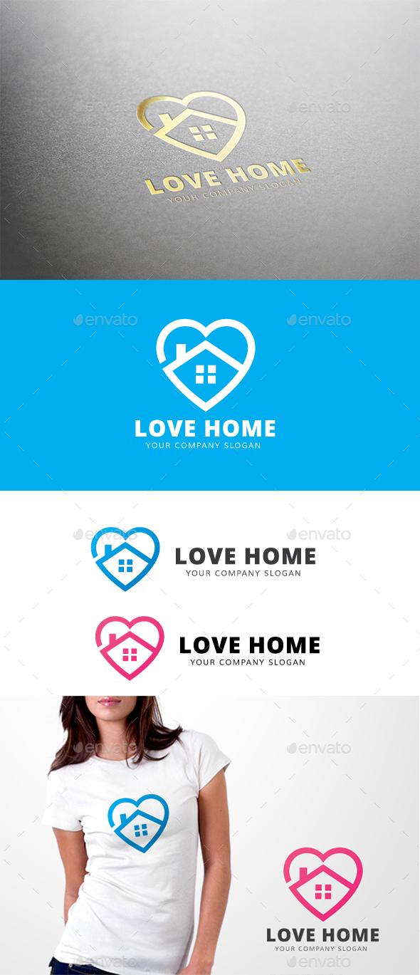 Love Home - Buildings Logo Templates