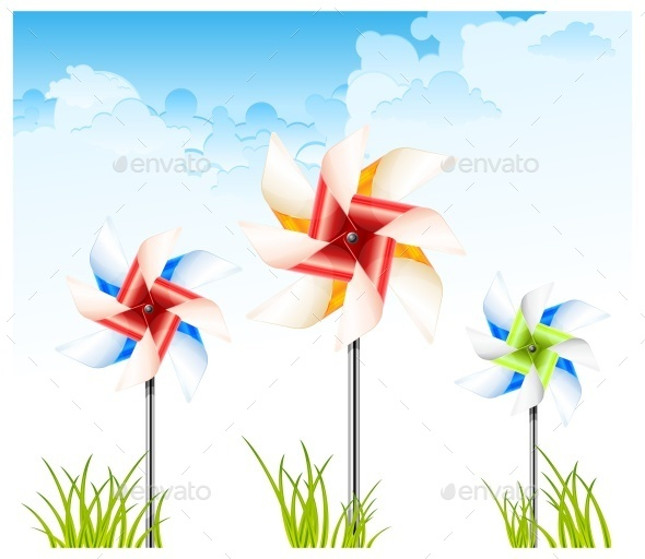Pinwheel on Sky - Miscellaneous Vectors