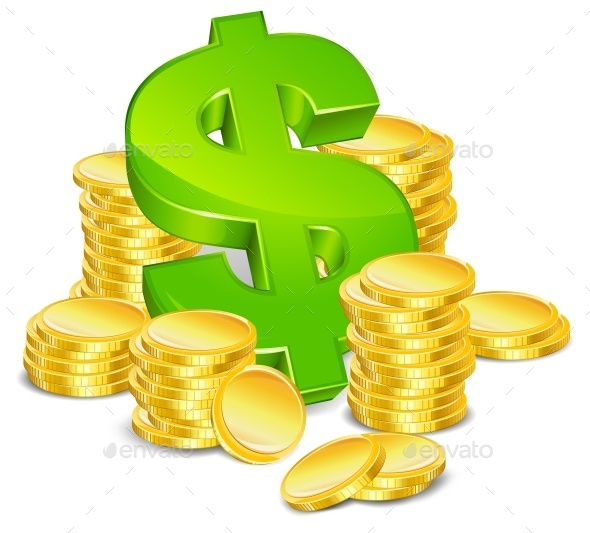 Dollar and Coins - Concepts Business