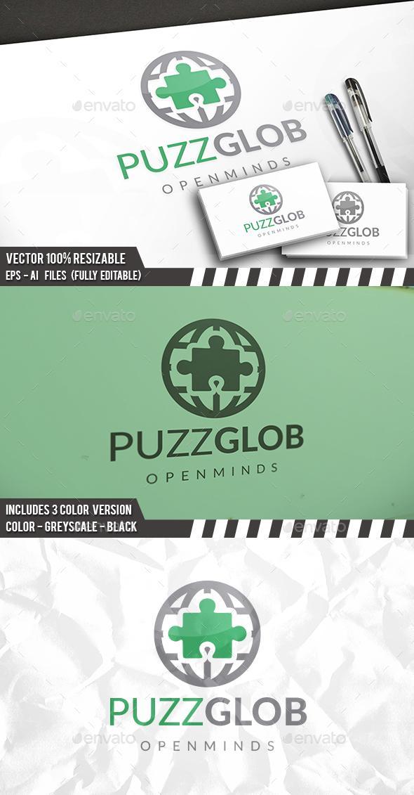Puzzle World Logo - Symbols Logo Templates