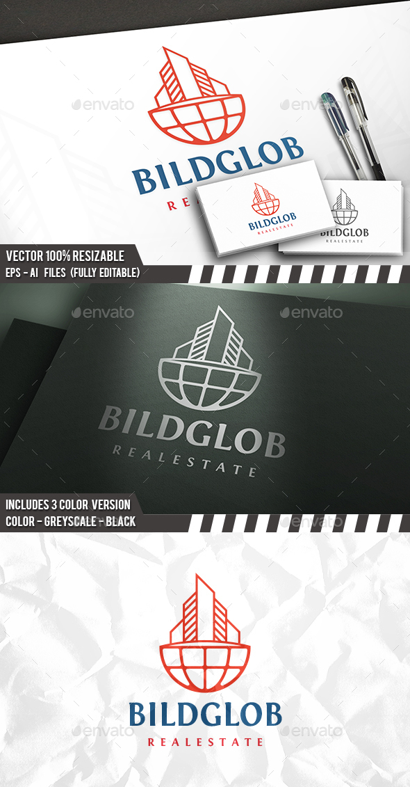Build World Logo - Buildings Logo Templates