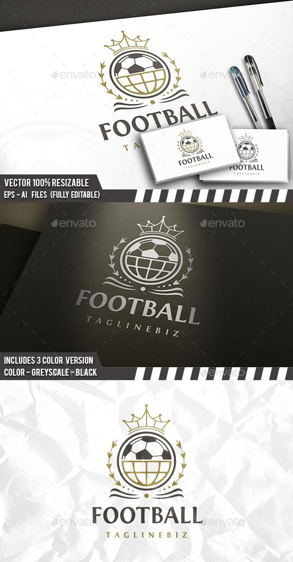 Football King Logo - Crests Logo Templates