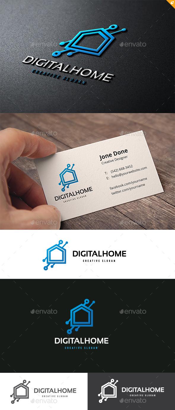 Digital Home - Buildings Logo Templates