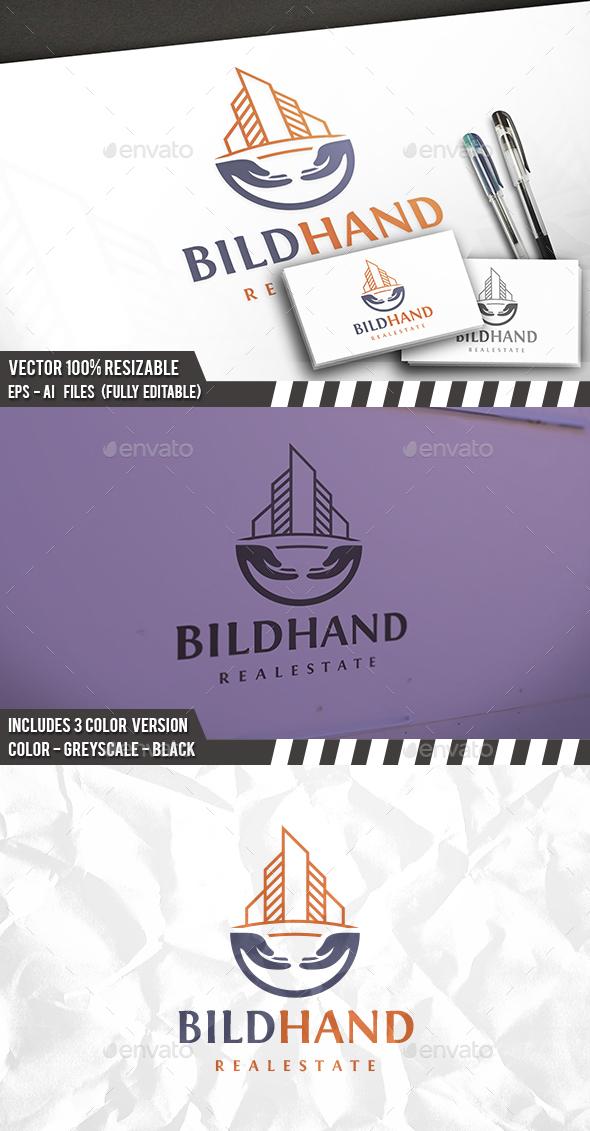 Building Hand Logo - Buildings Logo Templates