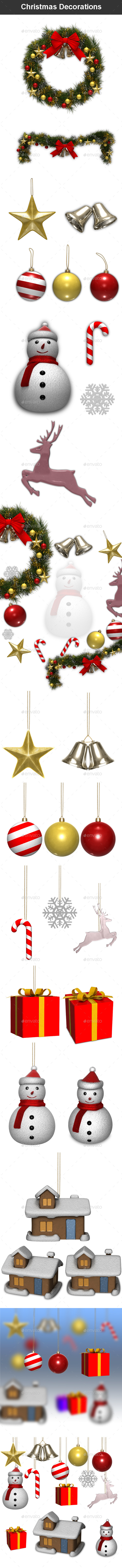 Christmas Decorations - Objects 3D Renders
