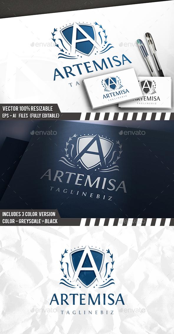 A Letter Crest Logo - Letters Logo Templates