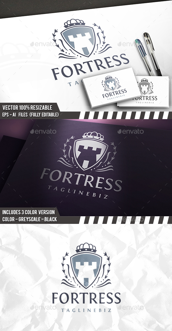 Fortress Logo - Buildings Logo Templates