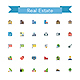 Real Estate Flat Icons - GraphicRiver Item for Sale