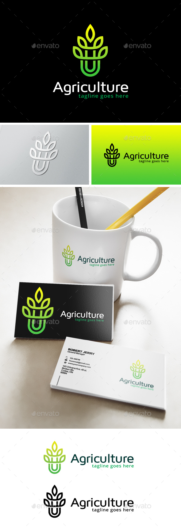 Agriculture Logo - Nature Logo Templates