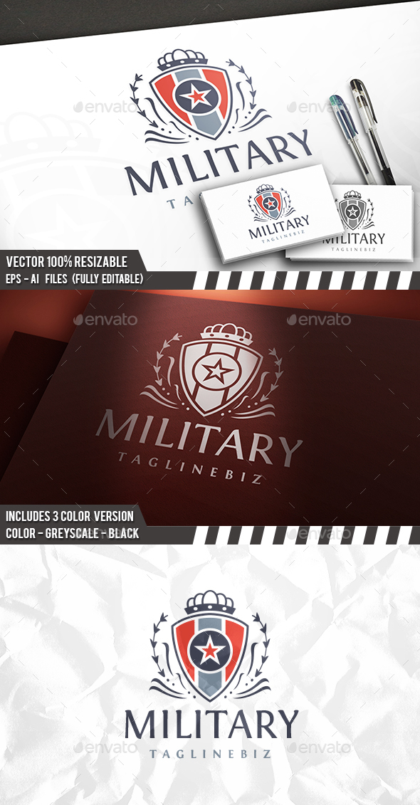 Military Vintage Logo - Crests Logo Templates