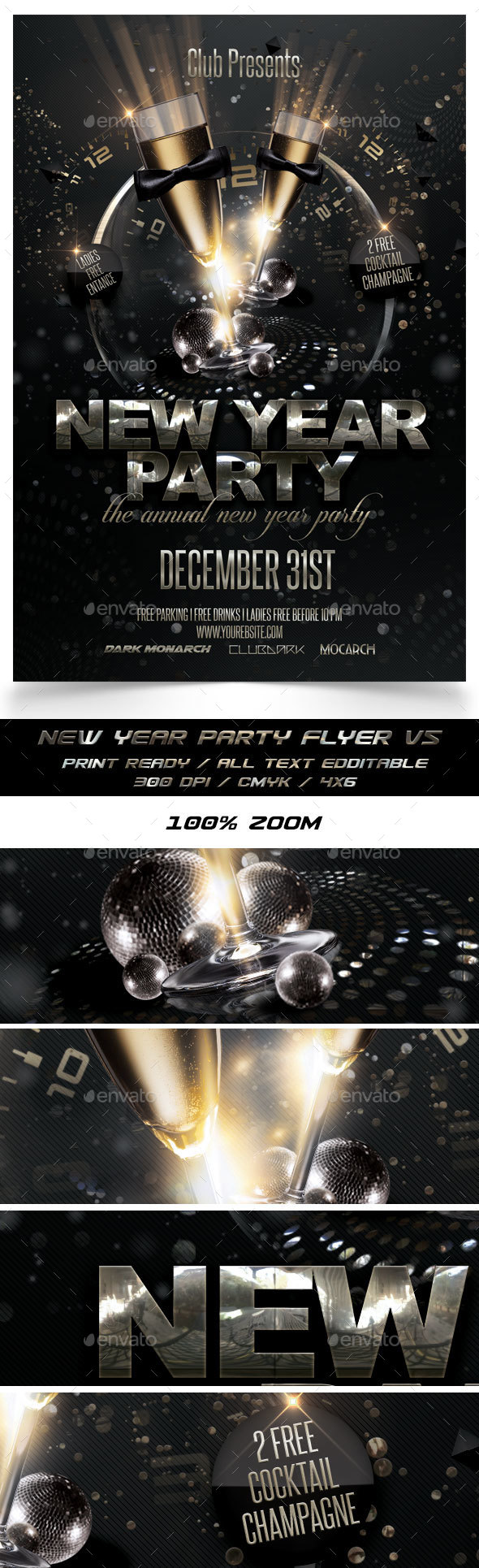 New Year Party Flyer V5 - Events Flyers