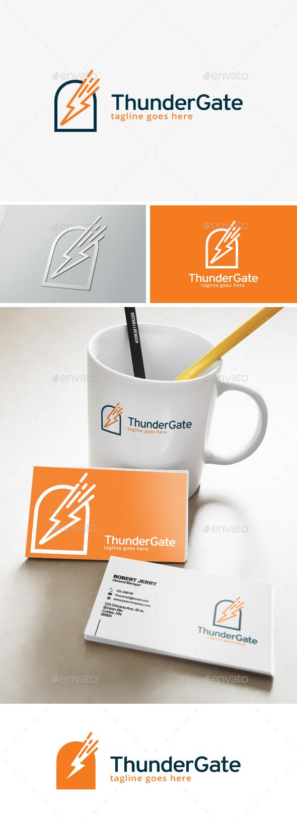 Thunder Gate Logo - Symbols Logo Templates