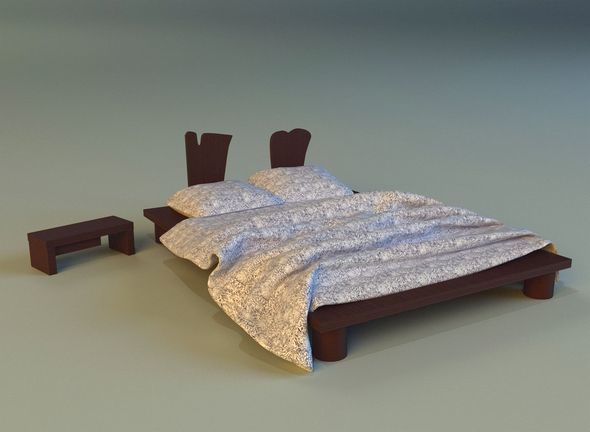 Bed chalets - 3DOcean Item for Sale